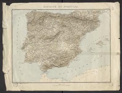 Géographie. croquis n8, Espagne et Portugal