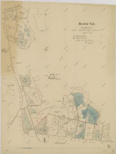 Porostní obrysová mapa polesí Val 1