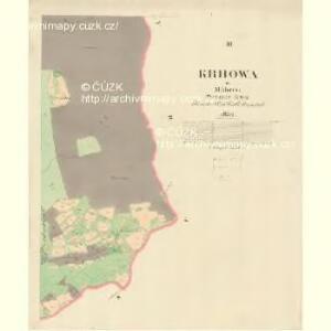Krhowa - m1360-1-003 - Kaiserpflichtexemplar der Landkarten des stabilen Katasters
