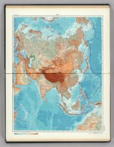 102-103.  Asia, Physical.  The World Atlas.