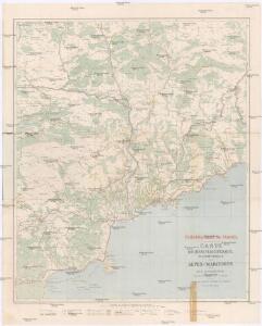 Carte routiere, vélocipédique, kilometrique des Alpes-Maritimes