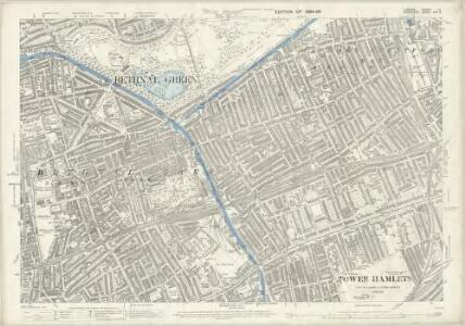 London (Edition of 1894-96) LII (includes: Bethnal Green; Hackney; Poplar Borough; Stepney) - 25 Inch Map