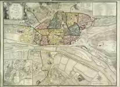 Plan routier de la ville et faubourg de Rouen