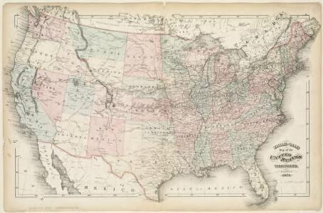 Walling and Grey's map of the United States and territories