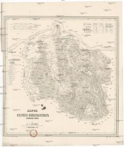 Karta okružija Požarevačkog knjažestva Serbije