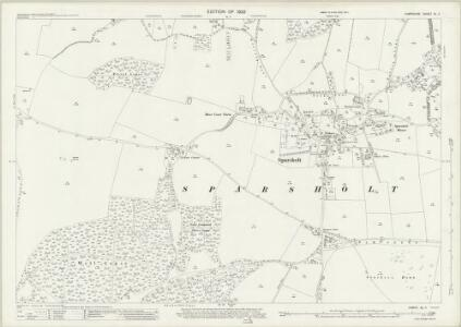 Hampshire and Isle of Wight XL.11 (includes: Sparsholt) - 25 Inch Map