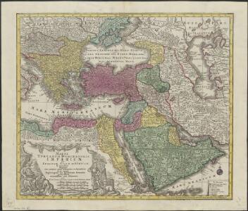 Magni Turcarum dominatoris imperium per Europam, Asiam, et Africam, se extendens regiones tam proprias, quam tributarias et clientelares ut et omnes Beglerbegatus sive praefecturas generales