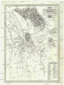 Plan der Provinzial-Hauptstadt Grätz mit der nächsten Umgebung