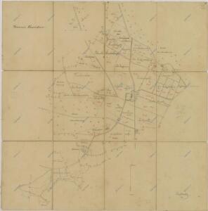 Mapa pozemků dvora Korákov 1
