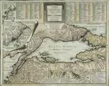 Charte von der Strasse der Dardanellen oder Hellespont und dem Canal von Constantinopel (Bosporus) nebst dem Meer von Marmora