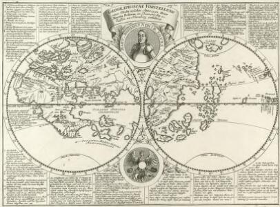 Geographische Vorstellung eines Globi, welchen Anno 1492 Herr Martin Behaim im Diametro bey 20 Zollen zu Nürnberg exhibiret