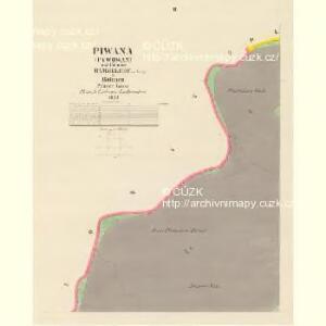 Piwana (Pywowan) - c5853-1-002 - Kaiserpflichtexemplar der Landkarten des stabilen Katasters