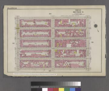 Plate 54: Bounded by W. 31st Street, Seventh Avenue, W. 26th Street, and Ninth Avenue.
