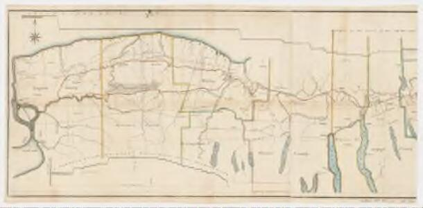 A new map and profile of the proposed canal from Lake Erie to Hudson River in the state of New York : Western sheet