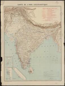 Carte de l'Inde ecclésiastique