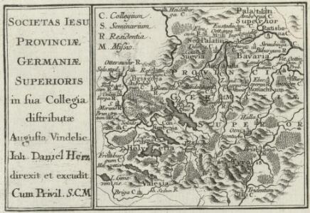 Societas Iesu Provinciae Germaniae Superioris in sua Collegia distributae
