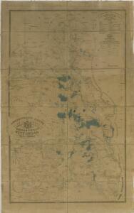 Administrativní mapa třeboňského panství se statky Bzí a Borovany (s vyznačením vodních toků) 1