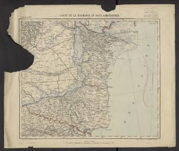 Carte de la Roumanie et pays limitrophes. Galatz