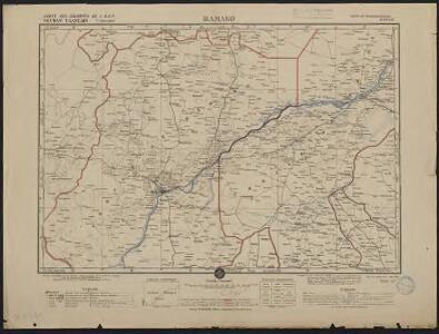 Carte des colonies de l'A.O.F. Bamako