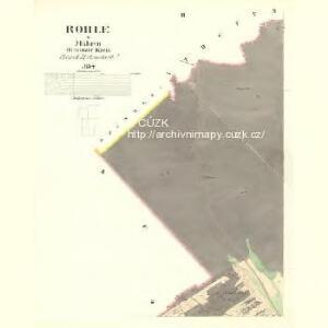 Rohle - m2586-1-002 - Kaiserpflichtexemplar der Landkarten des stabilen Katasters
