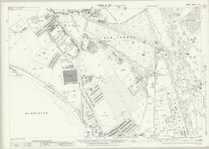Surrey VI.12 (includes: Ham; Kingston Upon Thames; Twickenham St Mary The Virgin) - 25 Inch Map
