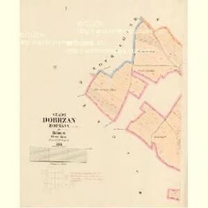 Dobrzan (Dobřany) - c1202-1-001 - Kaiserpflichtexemplar der Landkarten des stabilen Katasters