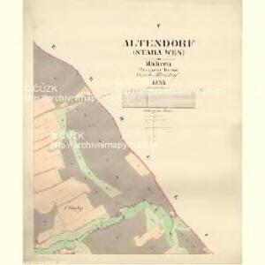 Altendorf (Stara Wes) - m2846-1-005 - Kaiserpflichtexemplar der Landkarten des stabilen Katasters