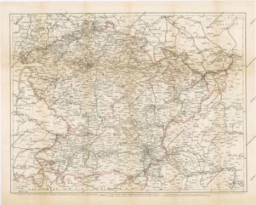 Verkehrs - Karte von Böhmen, Mähren, Schlesien, Erzh. Oesterreich...