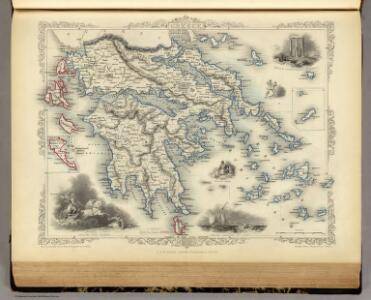 Greece. (with) inset maps of Corfu and Stampalia.