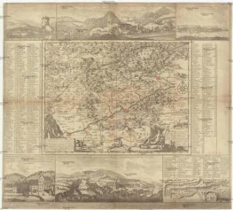 Geographischer Entwurff der Stadt und Gegend des Welt berühmten Kaeyser Carlsbades in Königreich Böhmen, vorstellent den Ellenbognischen Creiß