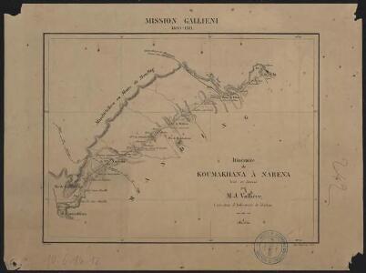 Mission Galliéni 1880-1881. Itinéraire de Koumakhana à Narena
