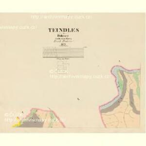 Teindles - c1478-1-001 - Kaiserpflichtexemplar der Landkarten des stabilen Katasters