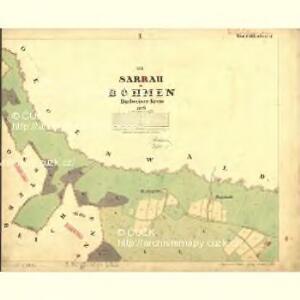 Sarrau - c3772-1-001 - Kaiserpflichtexemplar der Landkarten des stabilen Katasters