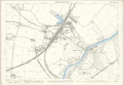 Durham XIII.3 (includes: Harraton; Houghton Le Spring; Offerton; Washington) - 25 Inch Map