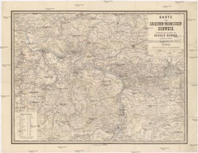 Karte der Saechsich-Boehmischen Schweiz