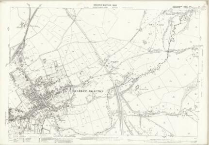 Staffordshire XXII.13 (includes: Market Drayton; Norton In Hales; Tyrley) - 25 Inch Map