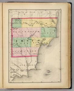 (Map of Iosco County, Michigan)