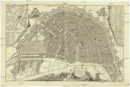 Plan tres exact de la fameuse ville marchande d' Amsterdam