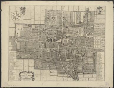 Platte grond van 's Graven-hage zoo als het zelve zig vertoont in het jaar 1729