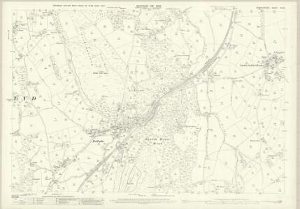 Denbighshire XIX.15 (includes: Efenechtid; Llanelidan; Llanfair Dyffryn Clwyd Rural; Llanfwrog Rural; Rhuthun) - 25 Inch Map