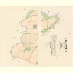 Mislowitz (Mislowice) - c4923-1-001 - Kaiserpflichtexemplar der Landkarten des stabilen Katasters