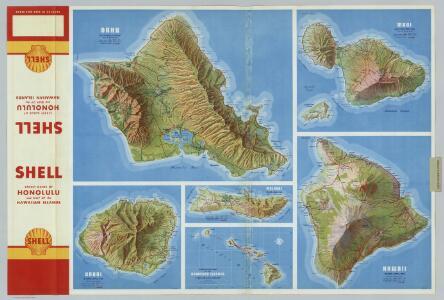 Oahu.  Kauai.  Maui.  Molokai.  Hawaii.  Hawaiian Islands.