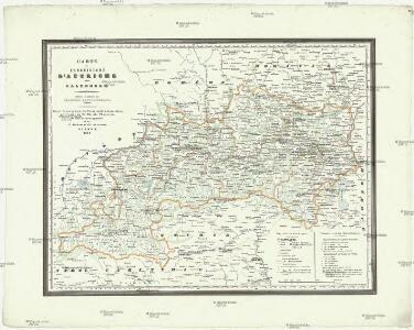 Carte de l'archiduché d'Autriche avec Salzbourg