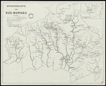 Mission map of South Borneo