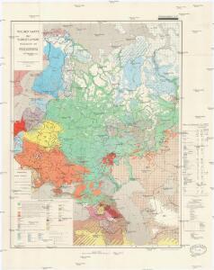 Völkerkarte der Sowjet-Union