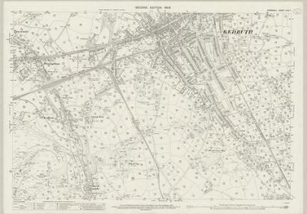 Cornwall LXIII.7 (includes: Camborne Redruth) - 25 Inch Map