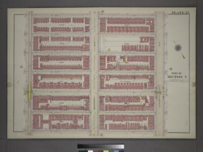 [Plate 25: Bounded by W. 139th Street, Lenox Avenue, W. 133rd Street and Eighth Avenue.]
