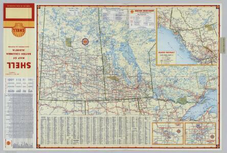 Shell Manitoba - Saskatchewan.  Alaska Highway.  Calgary.   Edmonton.