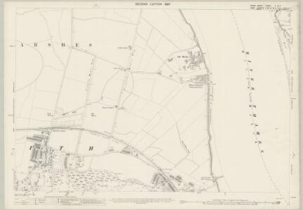 Essex (1st Ed/Rev 1862-96) LXXXII.7 & 11 (includes: Erith) - 25 Inch Map