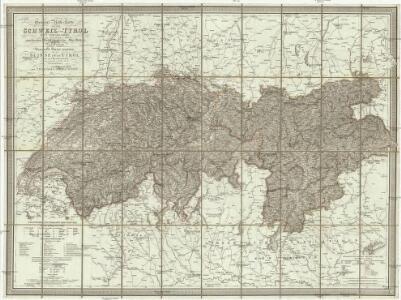 General-Reise-Karte von der Schweiz und Tyrol mit Vorarlberg und einen beträchtlichen Theile der angränzenden Länder, besonders von Ober-Italien